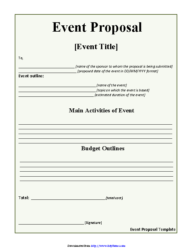 Event Proposal Template 2