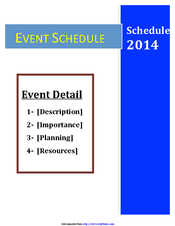 Event Schedule Template 1