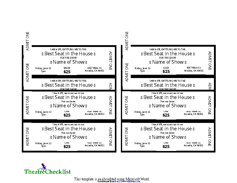 Event Ticket Template 3