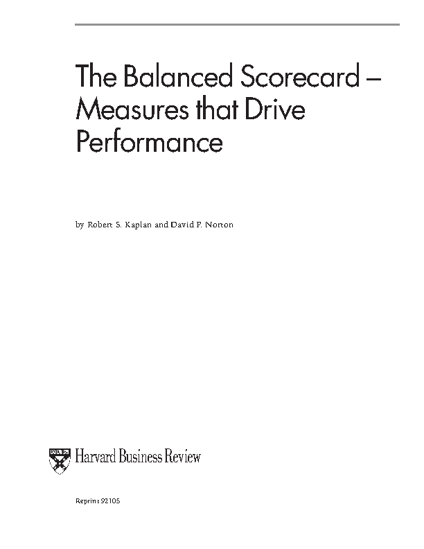 Example Balanced Scorecard1
