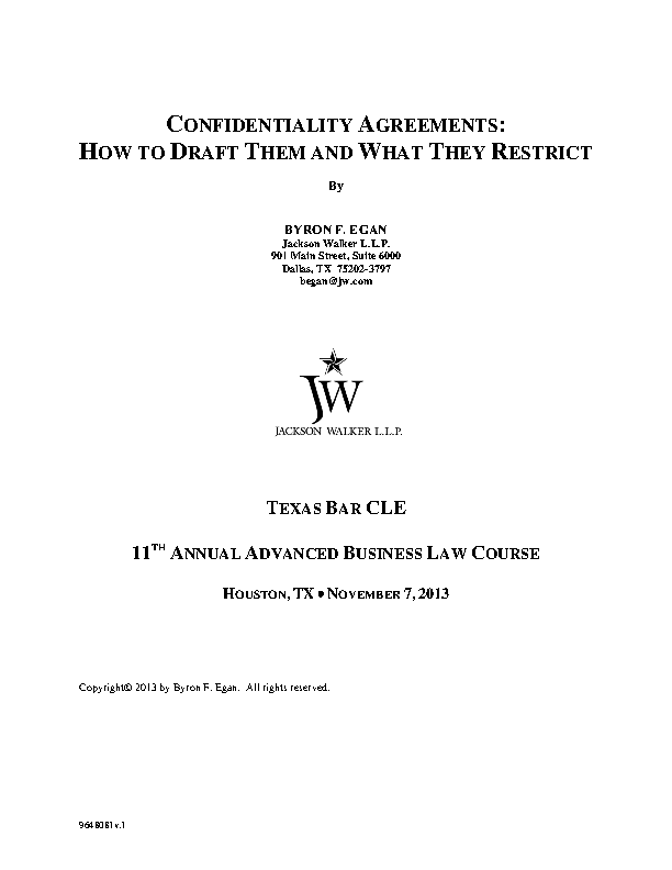 Example Business Understanding Confidentiality Agreement