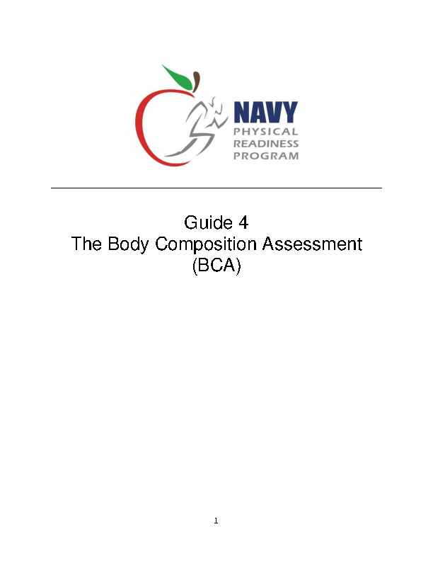 Example Navy Body Fat Measurement Chart
