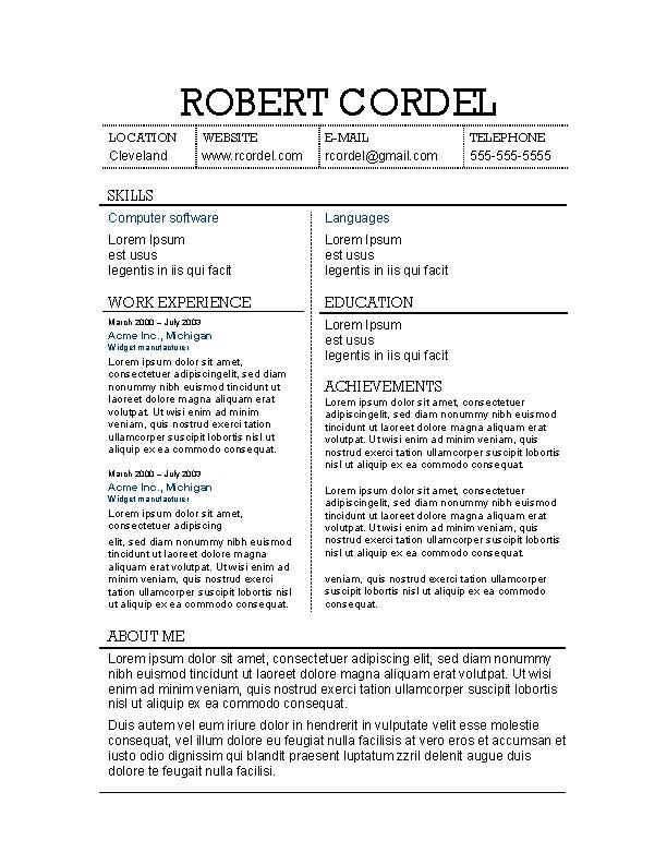 Example Of Harvard Resume