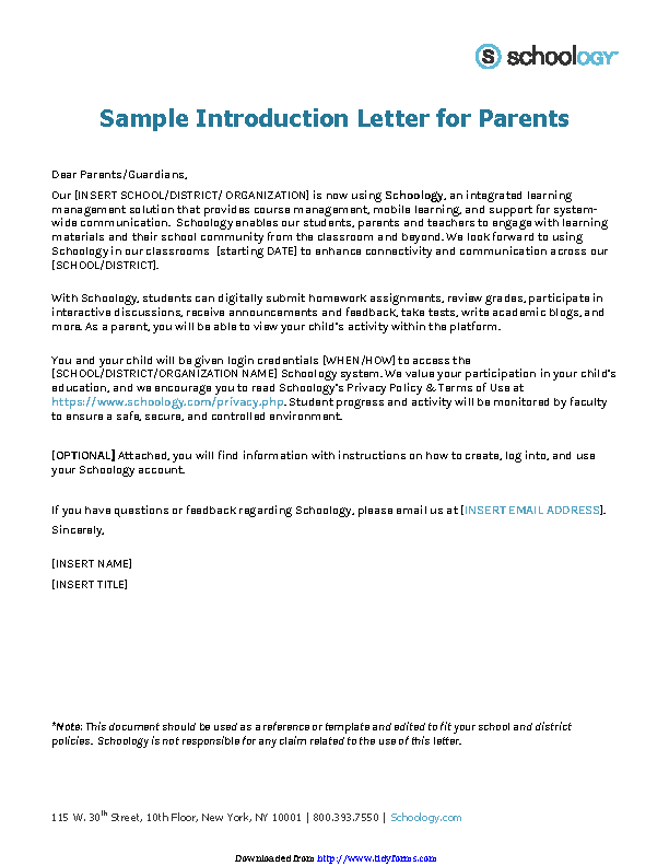 Examples Of Letter Of Introduction