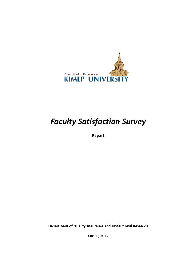 Faculty Satisfaction Survey