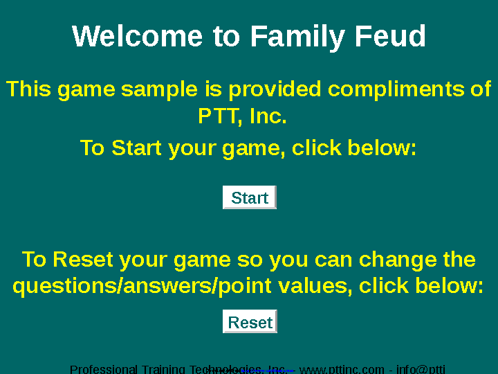 Family Feud Powerpoint Template 2