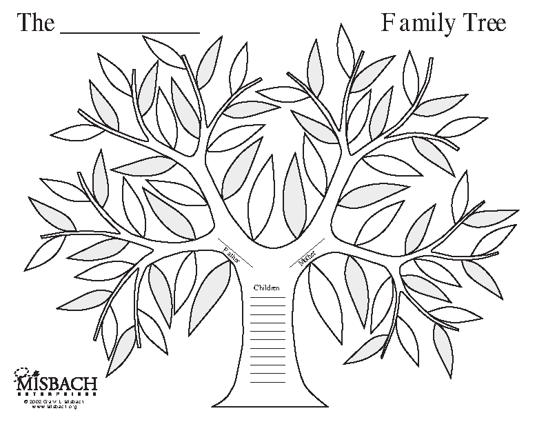 Family Tree Art Template