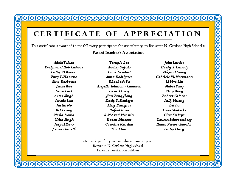Father Appreciation Award Template
