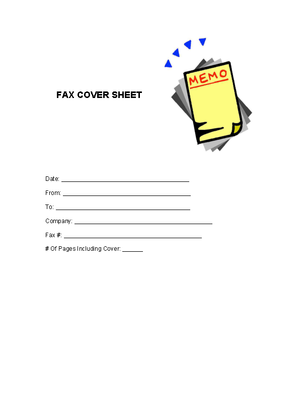 Fax Cover Letter Template