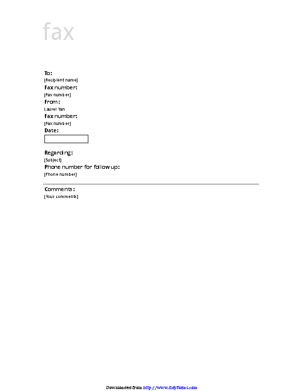 Fax Cover Sheet Business Design