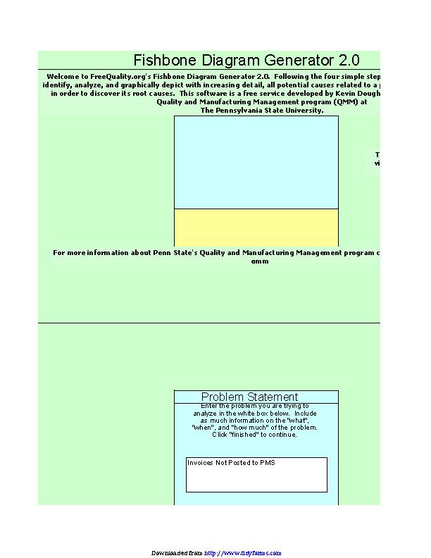 Fishbone Diagram Template | Fishbone Diagram Template Excel Pdfsimpli