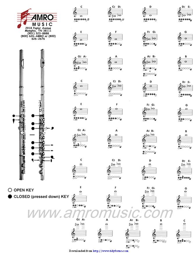 Flute Fingering Chart 1 Pdfsimpli
