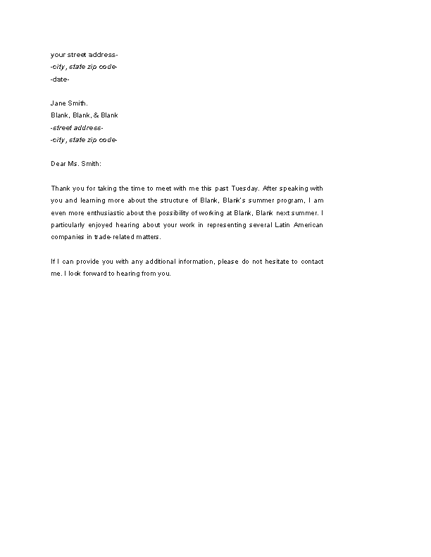 Follow Up Email Format After Job Interview