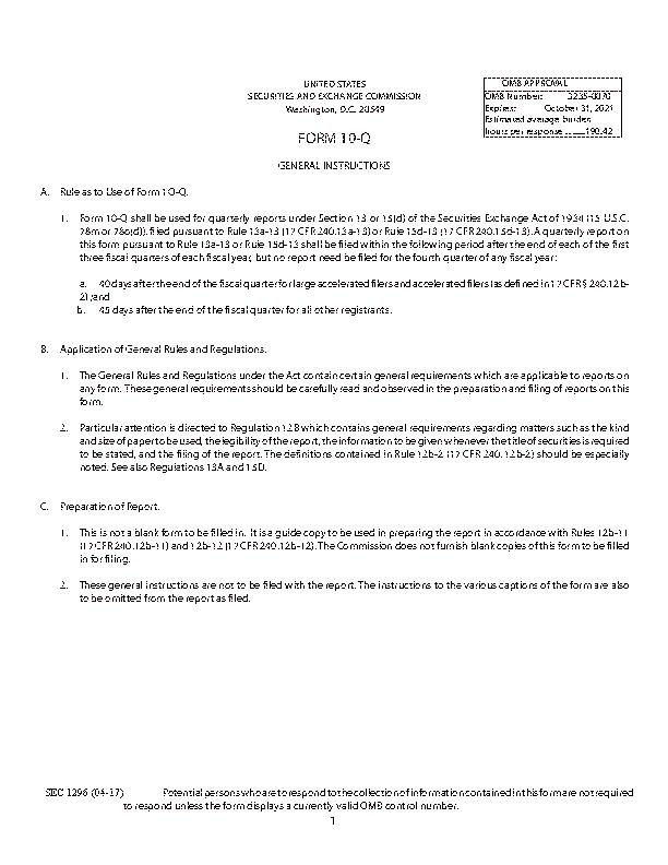 Form10 Q