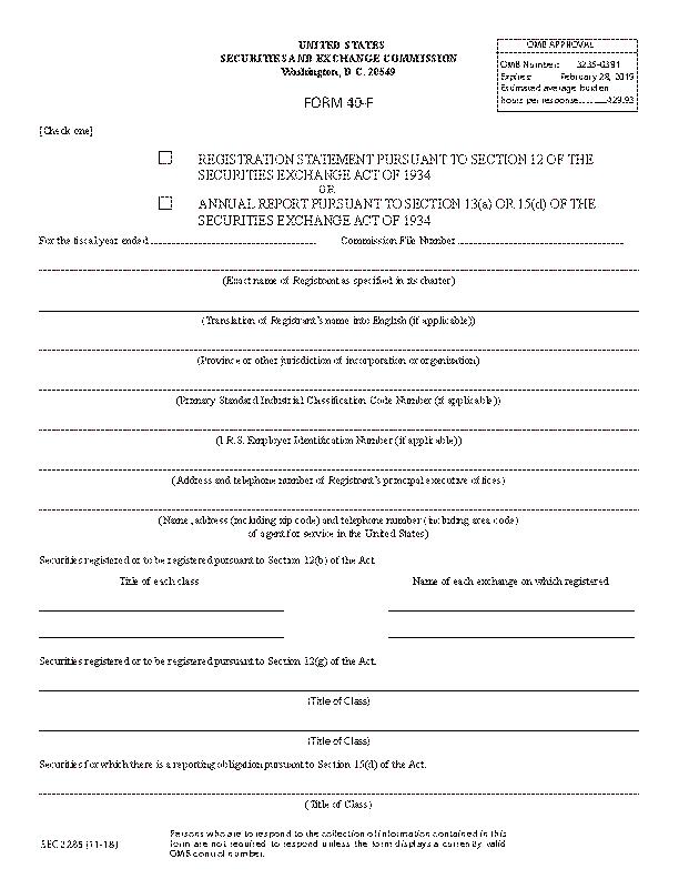 Form40 F