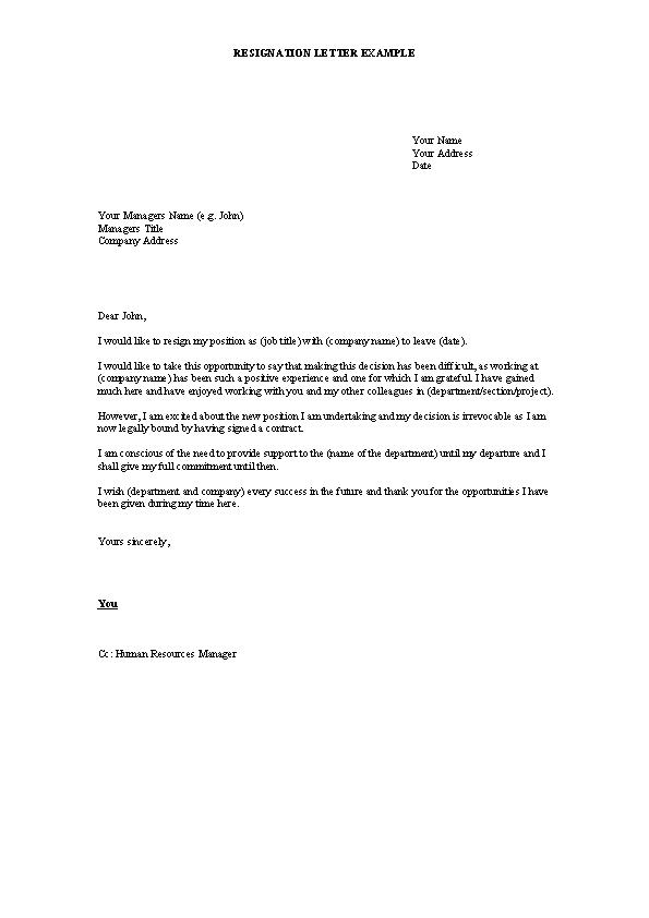 Formal Resignation Letter Example from devlegalsimpli.blob.core.windows.net