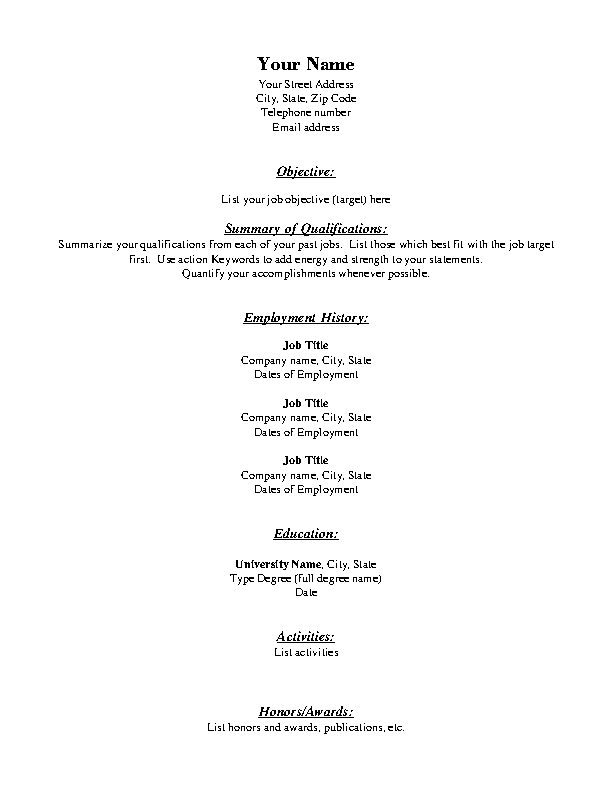 Functional Resume Template Free Download from devlegalsimpli.blob.core.windows.net