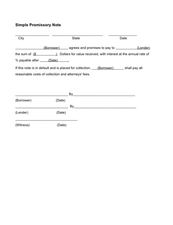 printable promissory note for personal loPDF