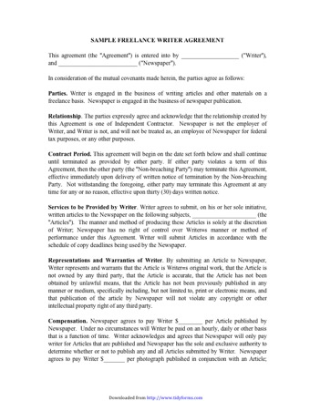 lance Contract Template PDF