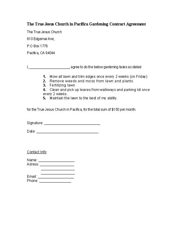 Garderning Contract