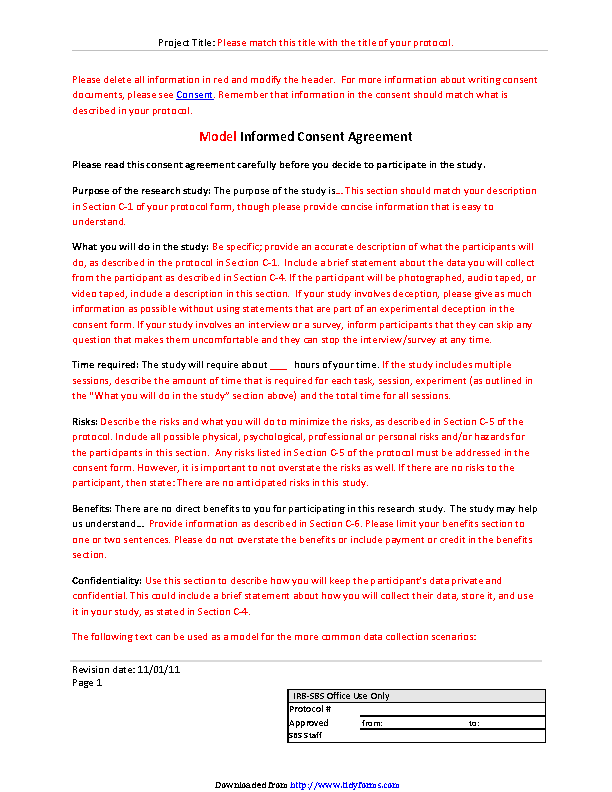 General Consent Template