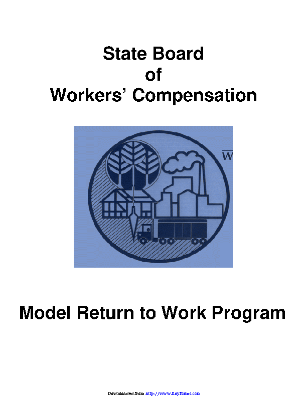Georgia State Board Of Workers Compensation Model Return To Work Program