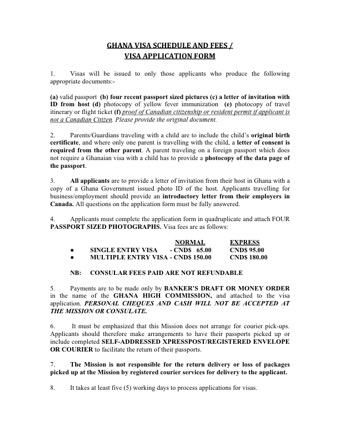 Ghana Visa Application PDF