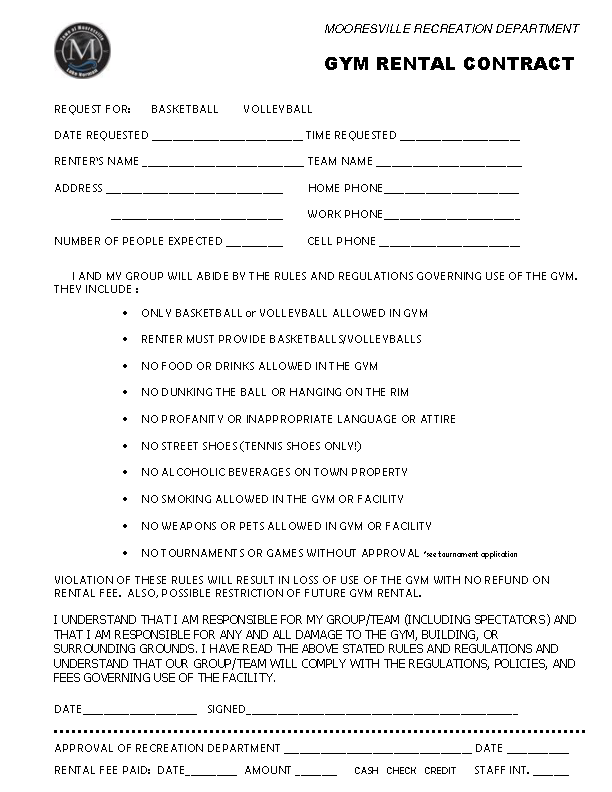 Gym Rental Contract Template Pdf Format Download Pdfsimpli