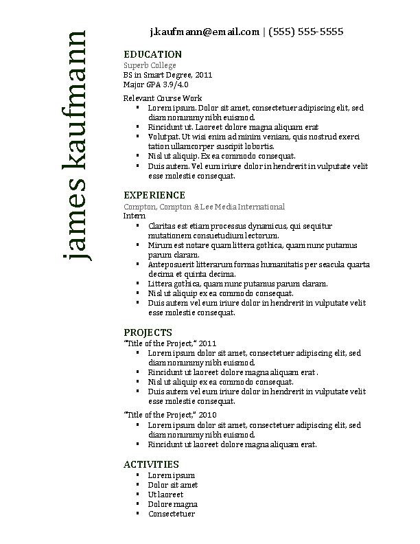 Harvard Resume Template Pdfsimpli