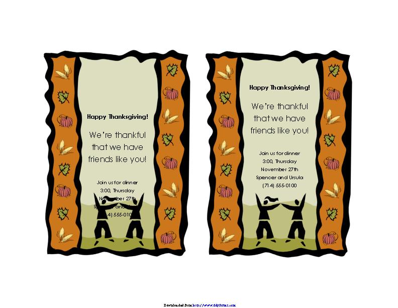 Holiday Invitation Template 2
