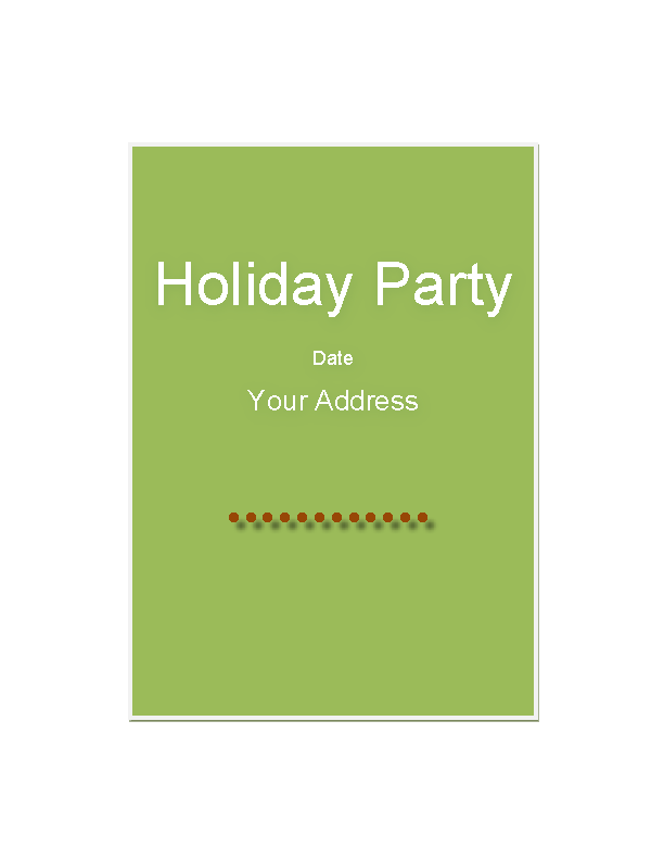 Holiday Special Party Invitation