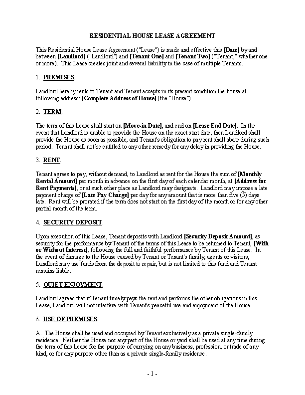 Rental Agreement Archives Page 34 Of 44 Pdfsimpli
