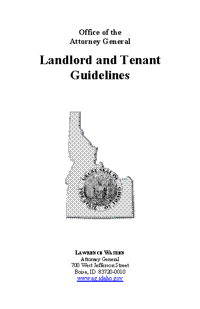 Idaho Attorney General Landlord And Tenant Guidelines