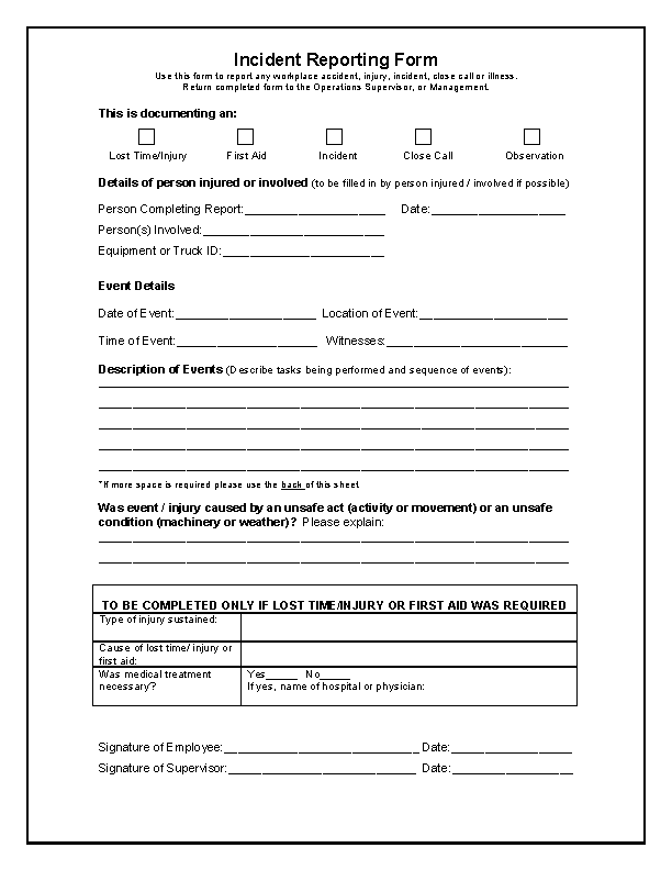 Incident Report Form Template Word Pdfsimpli