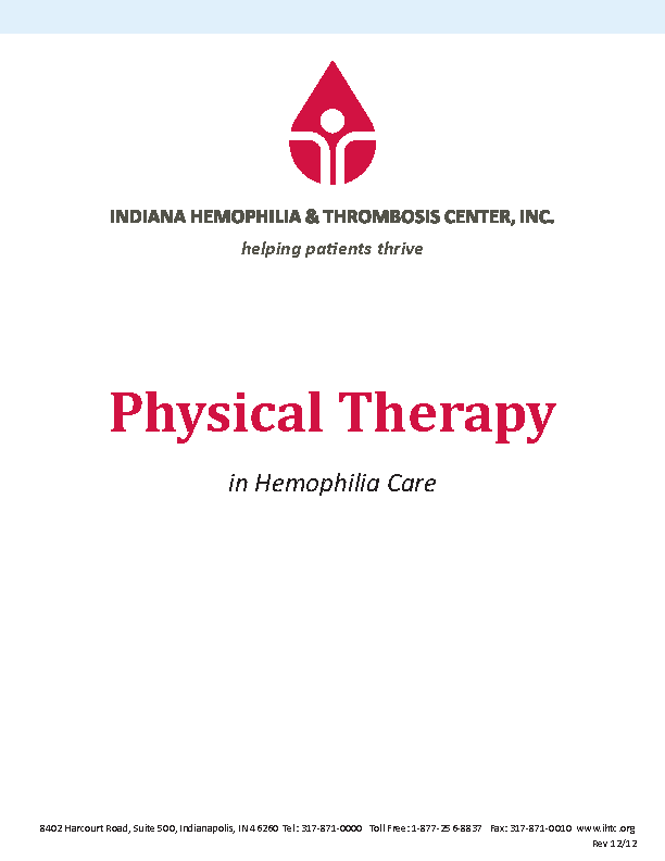 Indiana Hemophilia And Thrombosis Center Inc