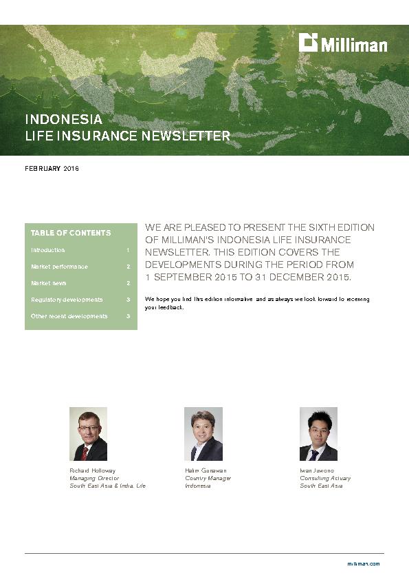 Indonesia Life Insurance Newsletter