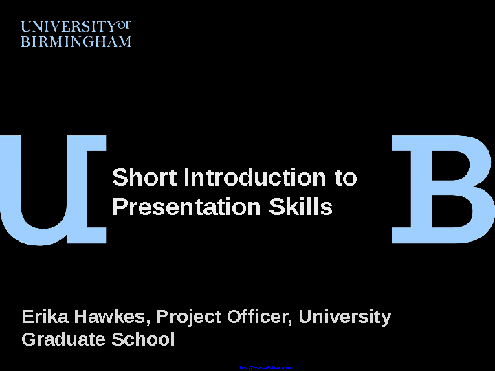 Introduction To Presentation Skills