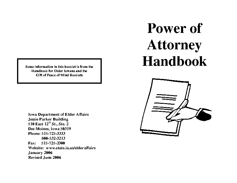 Iowa Power Of Attorney Handbook