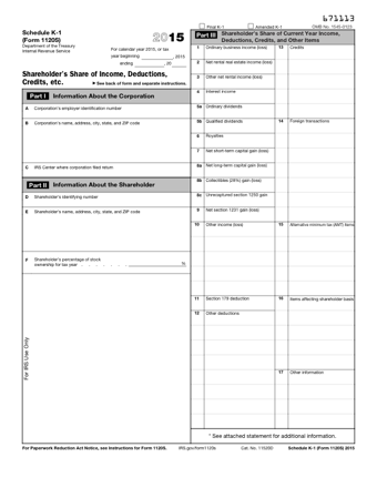 irs form 1120s 2015