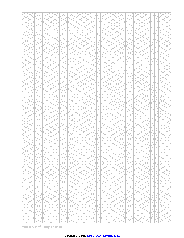 Isometric Graph Paper Gray Vertical Triangle