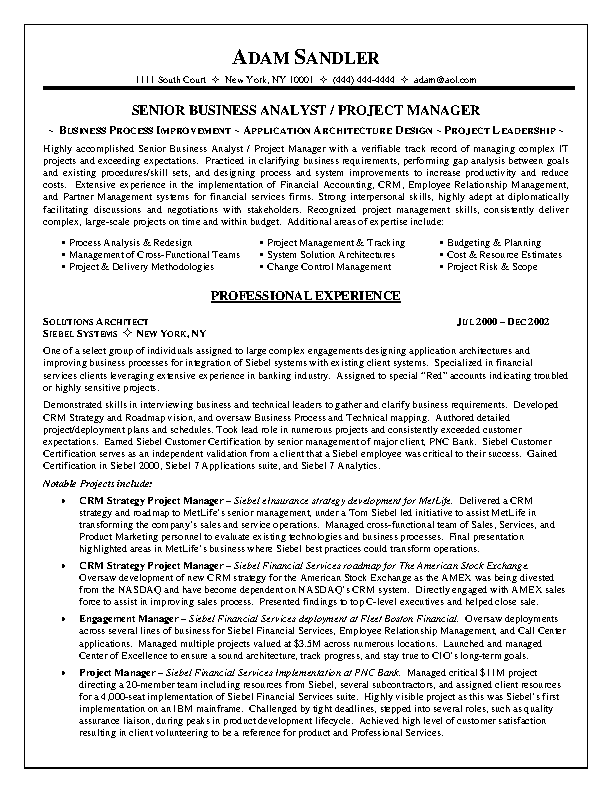 It Project Manager Resume Pdf Free Template Pdfsimpli