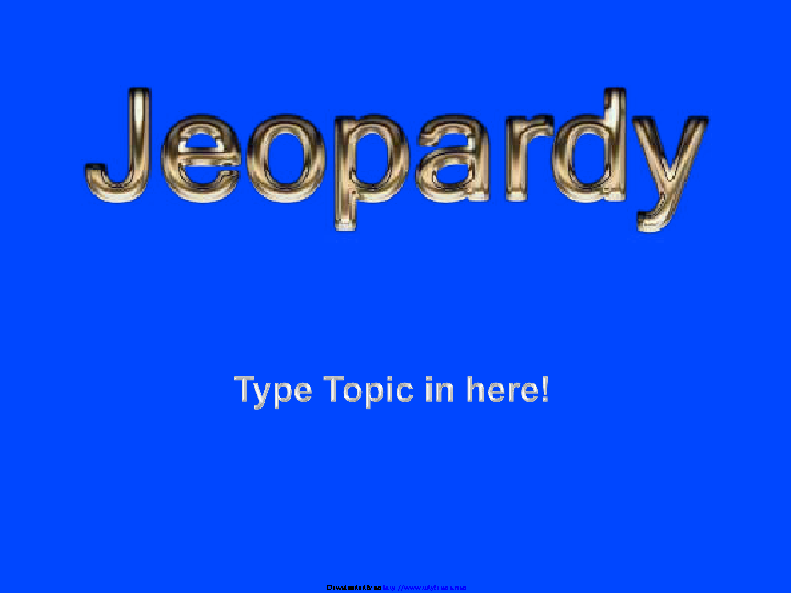 Jeopardy Template Design 1