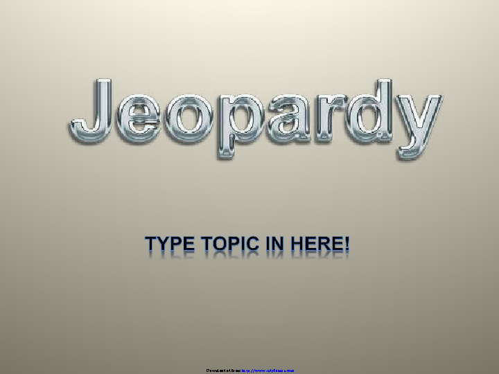 Jeopardy Template Design 3