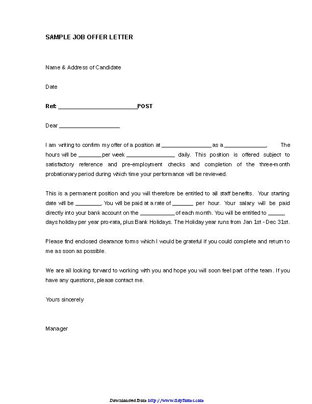 Offer Letter Of Employment from devlegalsimpli.blob.core.windows.net