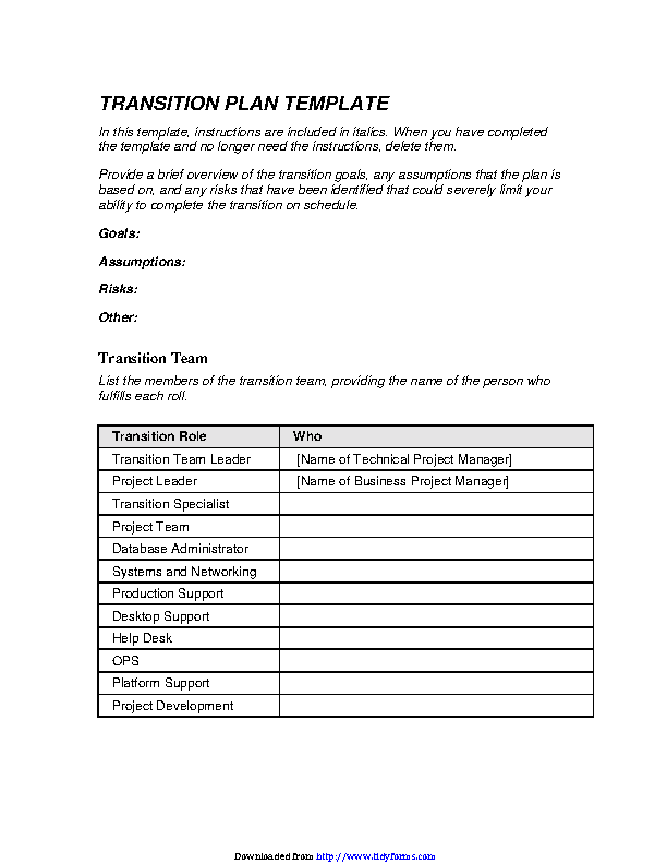 Leadership transition plan template job transition plan template.
