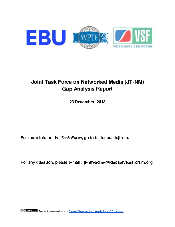 Jtnm Gap Analysis Report