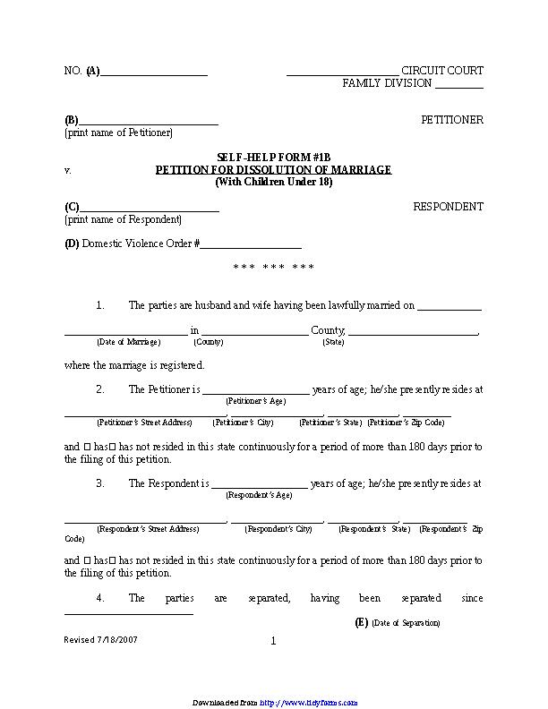 Divorce In Kentucky >> Kentucky Divorce Form Pdfsimpli