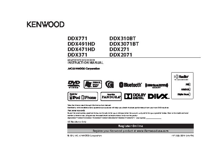 Kenwood Owners Manual Sample