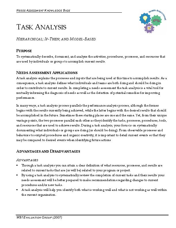 Knowledge Base Task Analysis Pdf Format Download