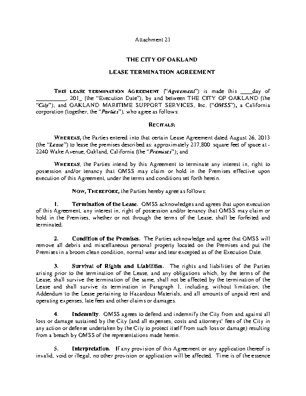 Lease Agreement Termination Template Pdfsimpli